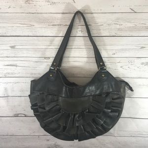ANTHROPOLOGIE LUCKY PENNY Ruffle Shoulder Bag
